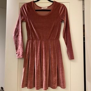 Dusty Rose Velvet Cocktail Dress